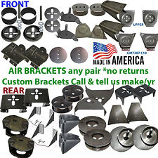 Air Bag Brackets Upper or Lower Axle Mount (each 2 Brackets=pair*No Returns