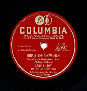 GENE AUTRY on Very Nice E- 1950 Columbia 38907 - Frosty the Snow Man