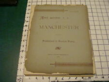 1892 ART WORK of MANCHESTER (NH) part 3 -- w pics of important town buildings