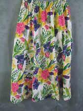 90's Lisa Ashley Colorful Elastic Waist Skirt Size Medium Stretchy Knit