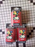 Lot de 3 cartouches Lexmark color 20