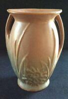"""McCoy 1932 Vase Embossed Flowers 8"""""""