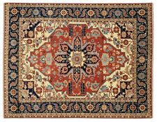 Red Rugs For Sale Hand Knotted 12' x 15' Artistic Design Serapi New Carpet