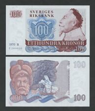 SWEDEN 100 kronor  1970  P54a  Uncirculated   Banknotes