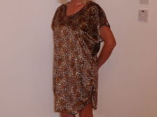 Leopardo / Cheetah / ANIMAL PRINT velluto nightshirt 8/10