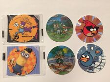 LOTE 6 TAZOS MAGIC TAZO MATUTANO CHEETOS SIMPSONS BARTMAN MINIONS ANGRY BIRDS