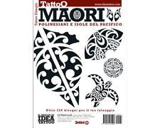 MAORI POLYNESIAN PACIFIC ISLAND Tattoo Flash Design Book 64-Pages Black White