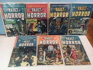 VAULT Of HORROR (7) Comic LOT- #2,3,4,5 + (3) Double size Comics-Gladstone 1990s
