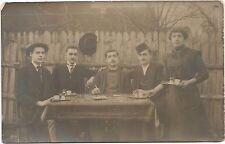 Bosnia, Sanski Most, People in Garden, Types, Old Photo Postcard