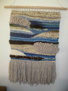 Woven wool blend wall hanging--Handmade in Australia