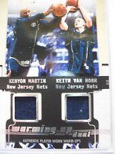 2001-02 FLAIR WARMING UP DUAL  WORN MATERIALS  MARTIN  VAN HORN  NETS    BOX54