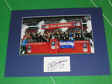 B Signed Lower Division Player/Club Football Photos
