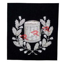 Pipe Major Drummer Arm Blazer Hand Embroidered Badge Silver Bullion Wire Emblem