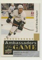 SCOTT NIEDERMAYER ~ 2009-10 Upper Deck #AG31 ~ AMBASSADORS OF THE GAME Card ~ SP