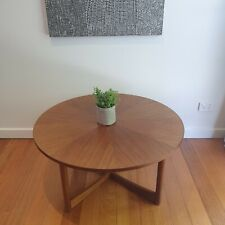 RETRO Mid CENTURY Coffee Table-Round TEAK-Rare Sundial by PARKER furniture?