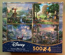 THOMAS KINKADE DISNEY JIGSAW PUZZLE, 4 IN 1 PUZZLES, 500 PIECES EACH, FANTASIA