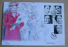 Queen's golden jubilee westminster fdc palette h/s signé artiste michael noakes