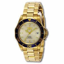 Invicta 9743 Para hombres Pro Diver esfera de color beige Chapado en Oro Reloj De Buceo Automático
