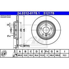 Disque de frein, 1 Unités UAT powerdisc 24.0312-0178.1