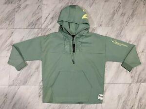 Nike Air Jordan 23 Engineered Men's XL 1/2 Zip Hoodie Luminous Green AT9779-333