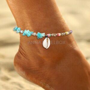 Beach Boho Anklet Sea Shell Summer Women Bracelet Ankle Foot Summer Cowrie UK