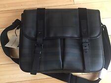Burberry Authentic Men's Messenger Bag. Defect missing a small decorative button