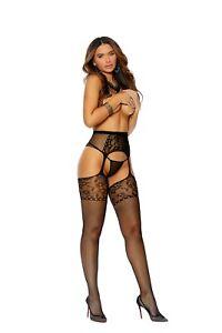 Crochet Suspender Pantyhose Regular Size Adult Woman Clothing