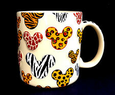 DISNEY PARKS Mug MICKEY MOUSE ICON ANIMAL Print Ceramic Cup 16 oz NEW