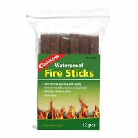 Coghlan's Waterproof Fire Sticks 12-Count Tinder Emergency Fire Starters Camping