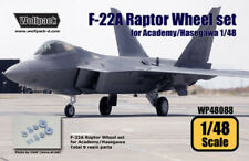 Wolfpack WP48088, F-22A Raptor Wheel set (for Hasegawa/Academy 1/48) ,SCALE 1/48