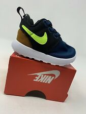 BABY BOYS: Nike Roshe One Shoes, Blue/Black/Brown/Green - Size 2C 749430-427