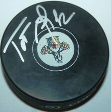 Tomas Kopecky signed Florida Panthers Puck w/ case COA