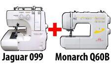 BUNDLE: Jaguar Advanced 099 Overlocker + Monarch Q60B Sewing Machine