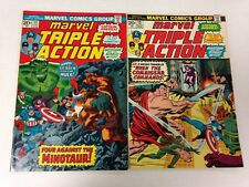 Marvel Triple Action #11 12 13 1973 Incredible Hulk Captain America Hawkeye