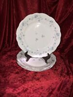 FOUR [4]  DINNER PLATES BLUE GARLAND BY JOHANN HAVILAND GERMANY