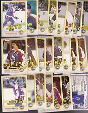 1981 - 82 OPC Team SET Lot of 23 Winnipeg JETS NM+ o-pee-chee CHRISTIAN LUKOWICH