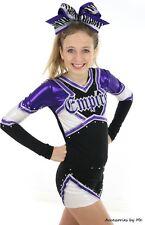 Purple Black Big Cheer Bow Zebra Dance Football Cheerleader Spirit 7 Inches Bulk