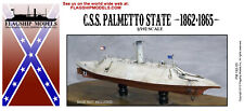 FLAGSHIP MODELS 1/192 Scale CSS Palmetto State; Ironclad Ram (10 inches long)