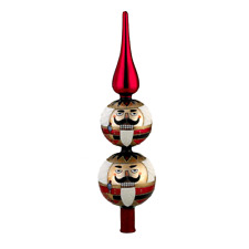 kurt adler glass nutcracker finial tree topper - Nutcracker Christmas Ornaments