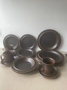 arabia finland ruska dinner ware 15 pieces