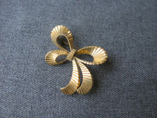 Ribbons In Bow Pin Vintage 40'S Gold Filled Stripped