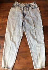Vintage Retro 90s PS Gitano Womens Acid Wash Jeans Pleated Size 16 Regular 100%