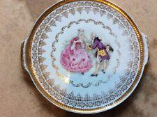 Ancien plateau à gâteaux en porcelaine fine GLORIA