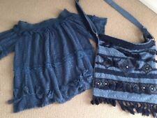 Ruby Ya ya Top and Bag Denim Blue Cottone Knit size 10/12