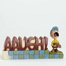 Disney Traditions Peanuts Charlie Brown AAUGH Word Plaque #4042388 Jim Shore NIB