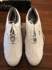 Mens FootJoy Sport LT 58035 Medium White/Silver Waterproof Golf Shoes -SZ-11