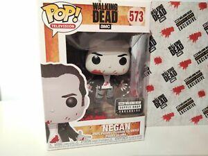 Funko Pop Negan #573 Bloody Black & White AMC Walking Dead Supply Drop Exclusive