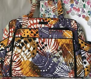NWT Vera Bradley Stroll Around Baby Bag In Painted Feathers