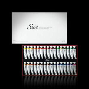 SHINHAN SWC Premium Professional Artist Grade Watercolor Paint Set 32colors 15ml