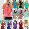 Womens Cold Shoulder T-Shirt Summer Beach Casual Loose Tops Blouse Tee Plus Size